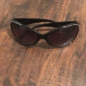 Black Panama Jack Bedazzled Sunglasses